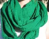 Emerald green infinity scarf neck wrap