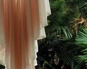 Soft Pink Angle Cut Generous Pleat Vintage Lace Glamorous Boho Nightdress