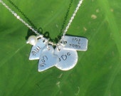 Hand Stamped Charm Jewelry personalized sterling silver necklace