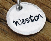 """ADD ON a 5/8"""" sterling silver disc personalized disc to your necklace"""