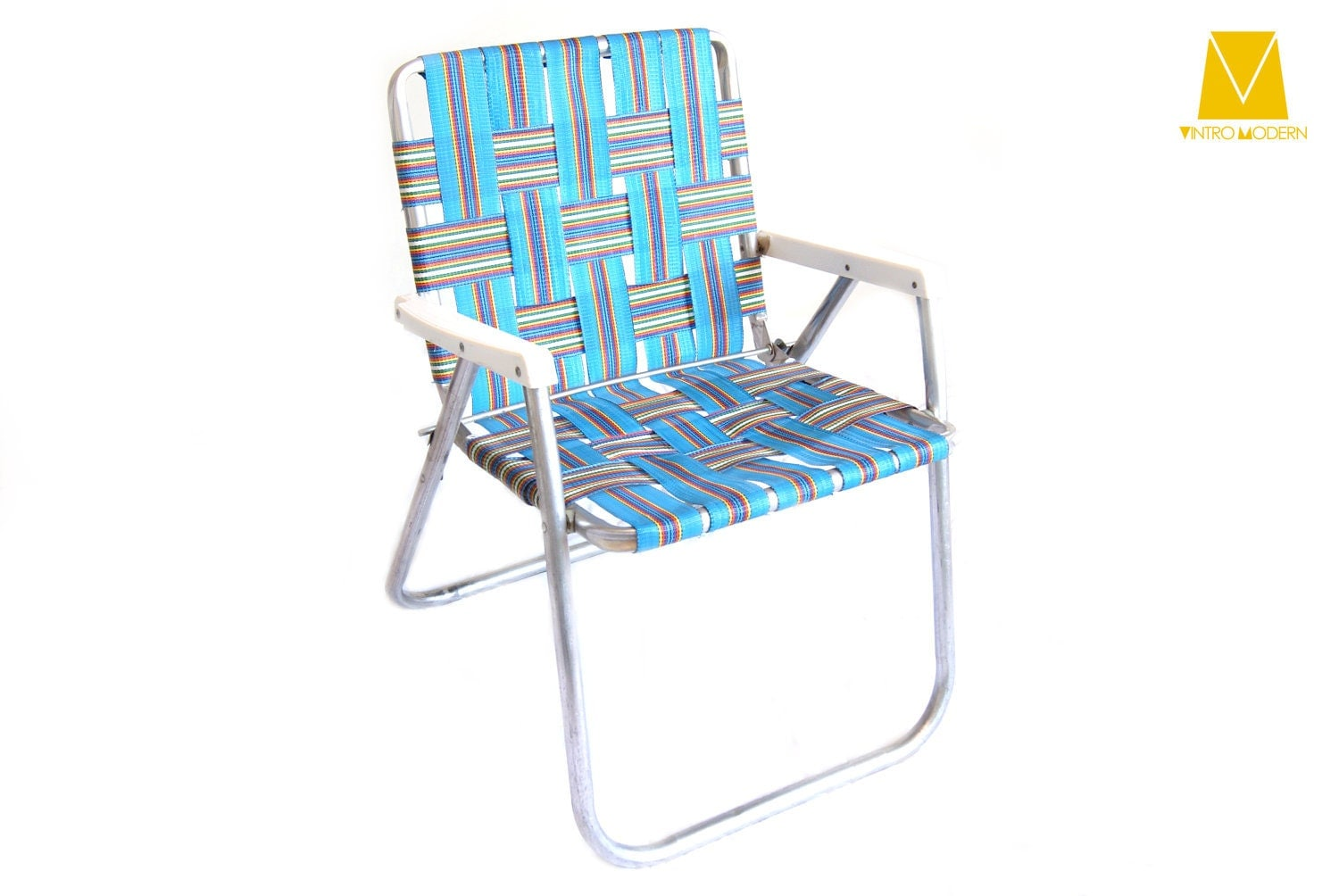 Nylon Aluminum Lawn Chair Rainbow Sale By Vintromodern On Etsy