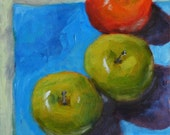 Original Still Life Painting, Threesome 6x6 oil on panel - Daily Painting