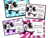 Roller Skating Princess  THANK YOU  Digital Custom Invitation Card PRINTABLE u PrInT