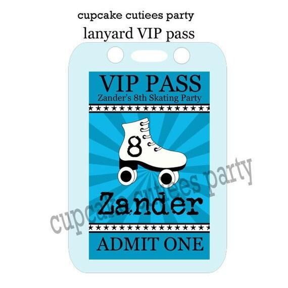 Decorative Wedding Invitation Badge 7: VIP Lanyard Badge Custom Invites Digital By