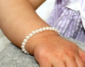 Baby Bracelet Pearl Girls Child's Classic Pearl Bracelets (My First Pearls)