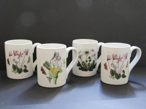Portmeirion Botanic Garden Set Of Four Mugs 1972 By Encoreemporium