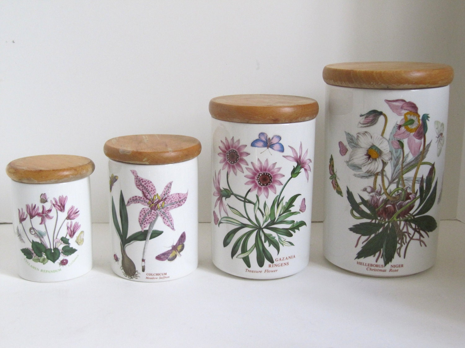 Portmeirion Botanic Garden Canister Set Of 4