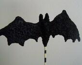 Halloween glitter Bat Wand