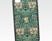 Floral iPhone 5 Case, Honeysuckle, Vintage iPhone 6 Case, William Morris Flower, Protective Silicone Rubber iPhone 5C Case, iPhone Cover