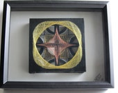 String Art Home Décor Abstract Wall Art Handmade Original Design with a Harmony of Metallic Threads in Gold, Silver and Copper OOAK