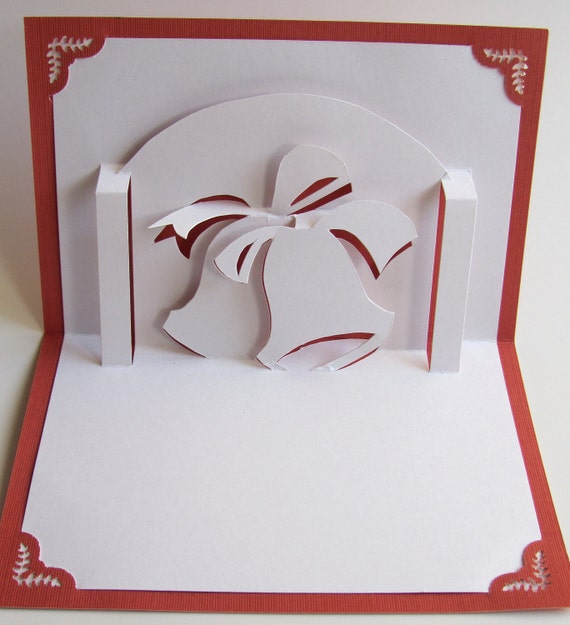 Christmas bells in 3d pop up holiday greeting card home d cor for 3d xmas cards to make