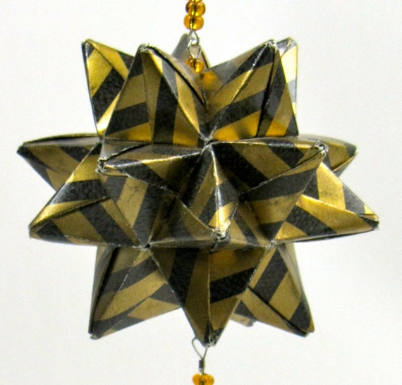 Ornament home d cor modular 3d origami star ball by boldfolds for 3d paper star decoration