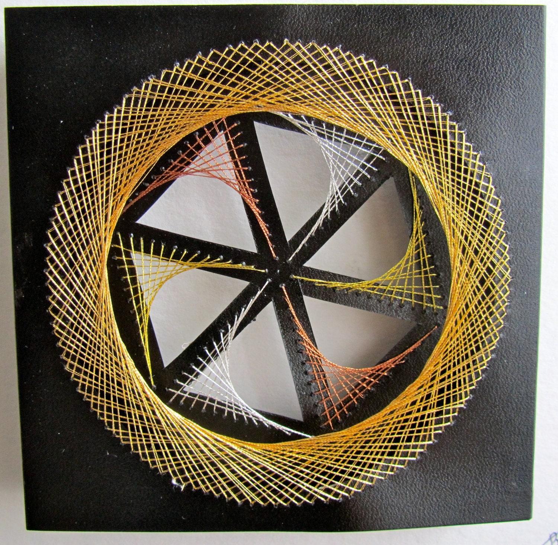 Geometric Home Decor: WALL ART Home Décor Geometric Original Design Of String Art