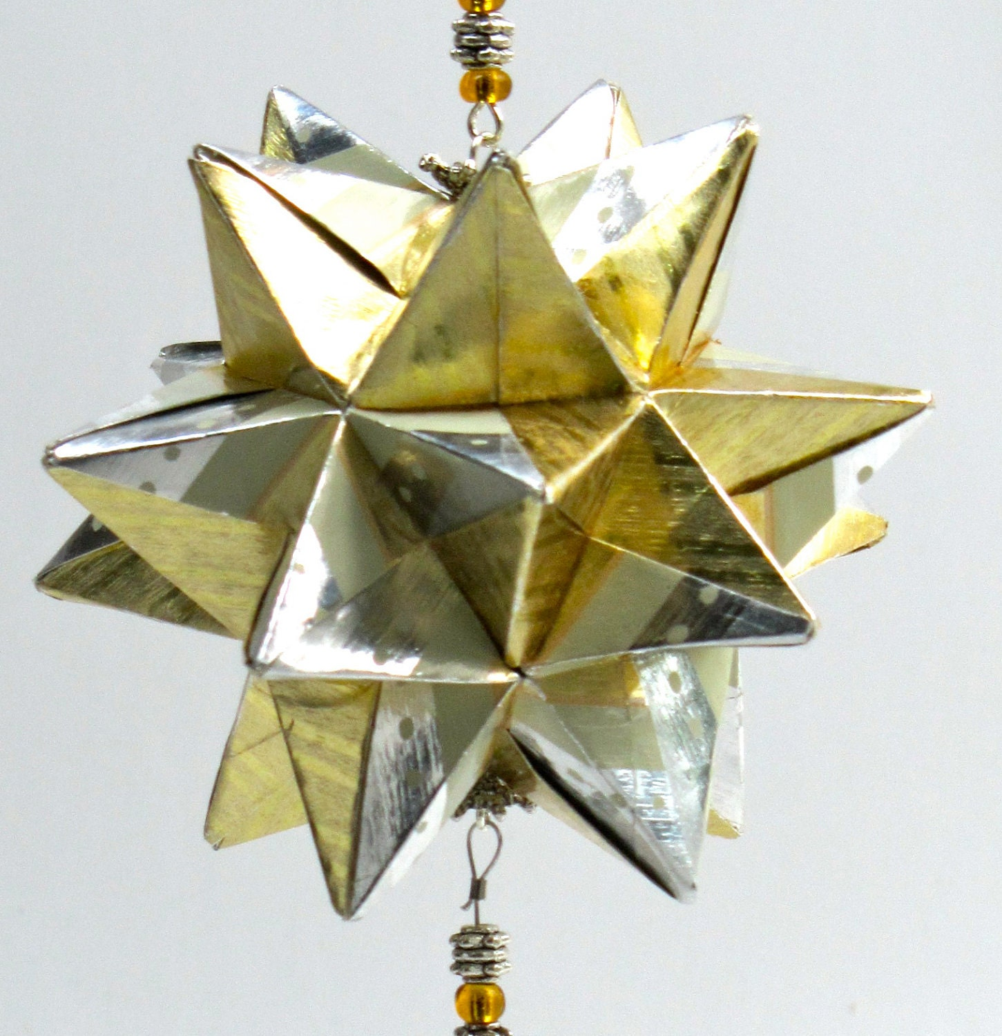 CHRISTMAS Star Ball Origami Ornament Decoration in by ... - photo#50