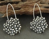 Flower, Sterling silver earrings