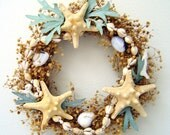 Knobby Star Fish and Coral Wreath