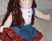 Waldorf Doll Josie is a little cowgirl who would love to come and live with you.