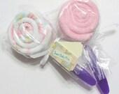 Reserved for Jeaninelinder - Burp Cloth Lollipops 10 Pack