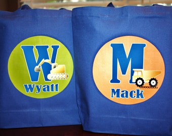 Set of 2 - Large Personalized Tote Bags - Your Design Choice