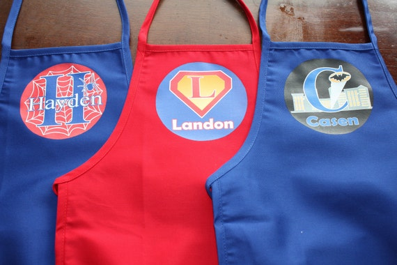 Personalized Kids Superhero Apron