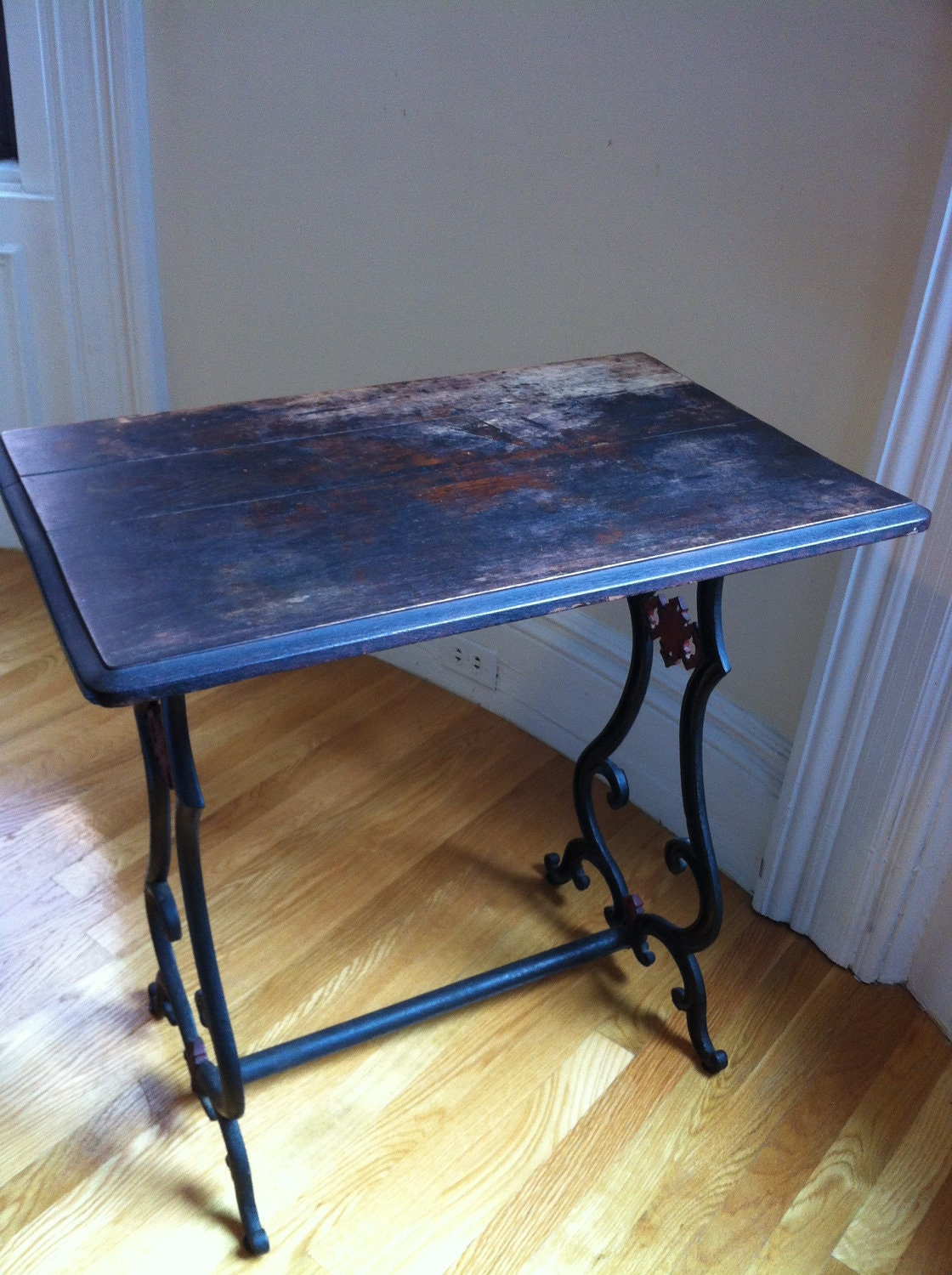Reserved Rustic Repurposed Sewing Table By Reinstatedbeauty
