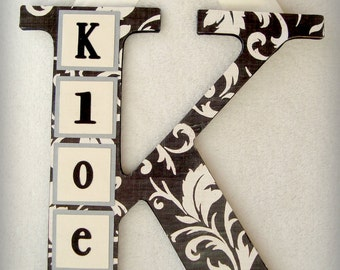 Personalized Wood Letter