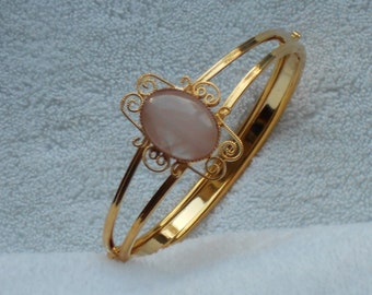Scroll Bracelet with 13 X 18mm Cabochon - BL0006