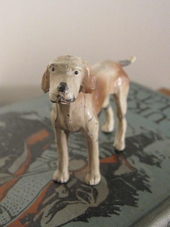 Lead Dog Figurine