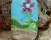 Amethyst prairie bloom handmade lampwork glass bead