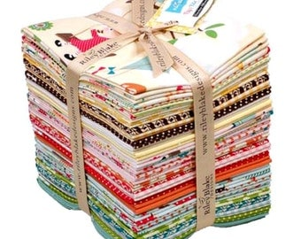 Fly a Kite Fat Quarter Bundle, October Afternoon, Riley Blake, Quilting Cotton Fabric, Pink Teal Cream Children Kids Dogs Tree Swing Kites