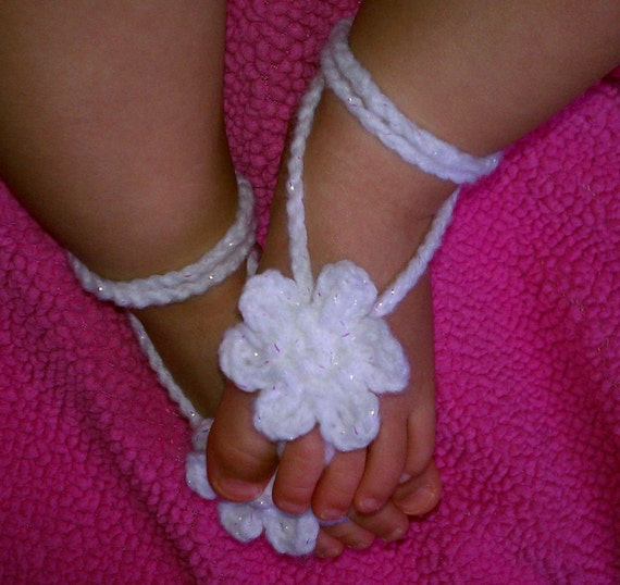 baby crochet barefoot sandals PATTERN photography prop