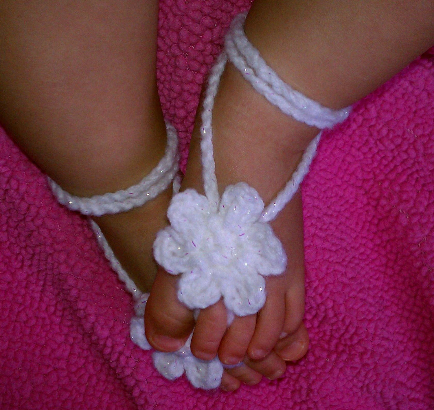 Crochet Pattern For Baby Barefoot Sandals : baby crochet barefoot sandals photography prop PDF by Kilegna