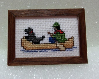 "1"" scale cross stitch picture"
