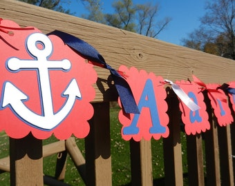 Anchor Name Banner Nautical Themed