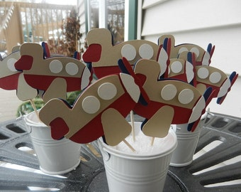 Cupcake Toppers Airplane