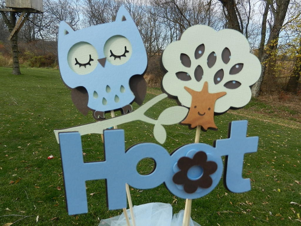 baby shower table centerpiece decoration it 39 s a boy owl