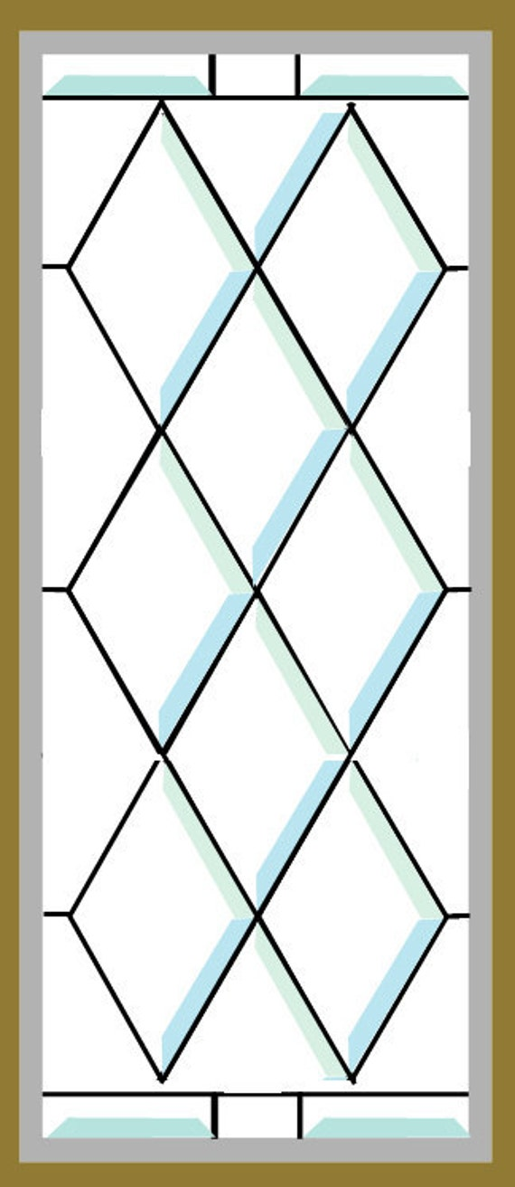Antique Restored Beveled Stained Glass Window