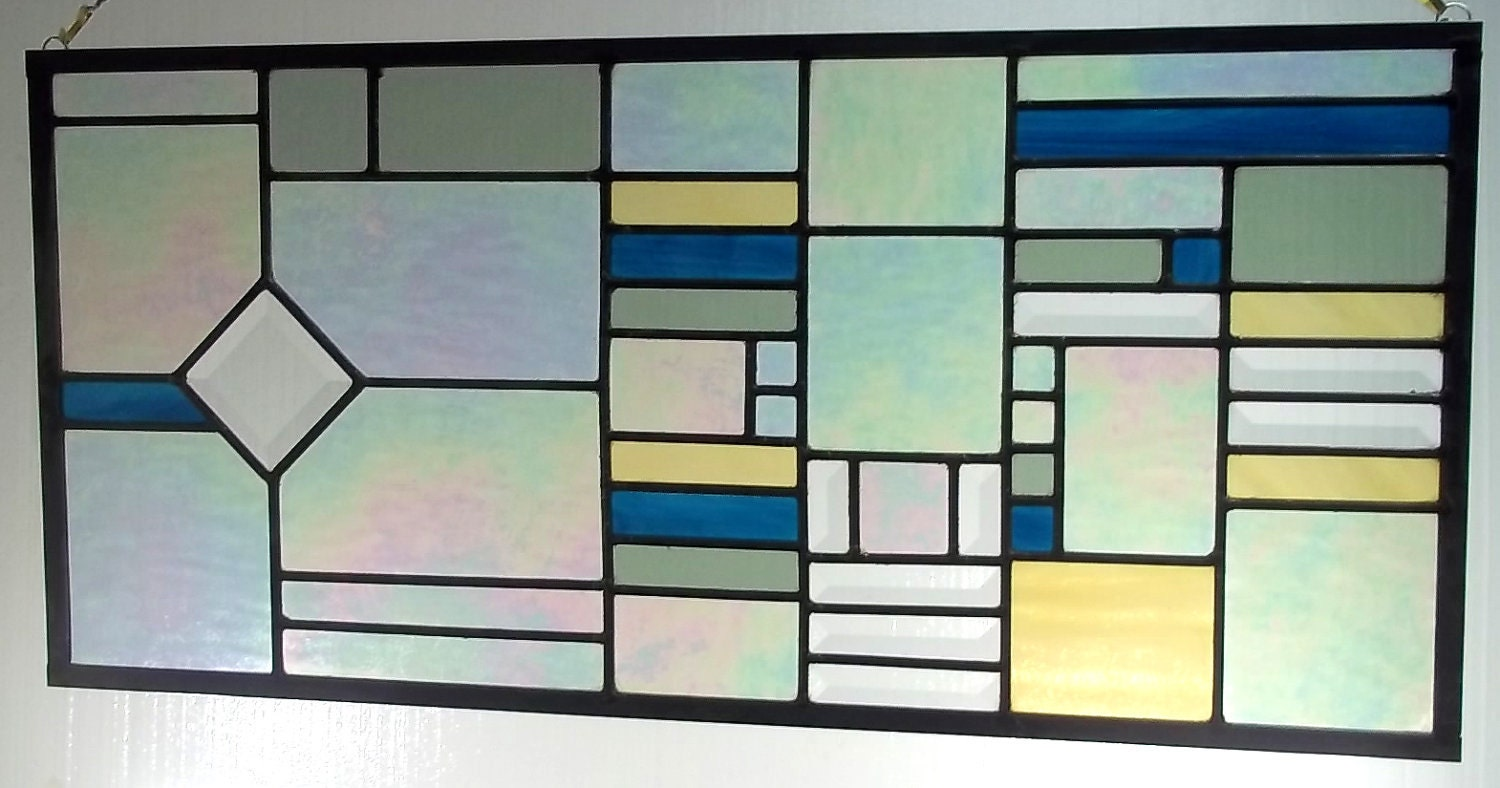 Stained Glass Window Transom Sidelight Geometric Your Choice