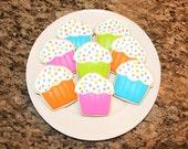 Bright Cupcake Cookies