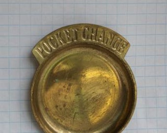 Retro Brass Pocket Change Dish