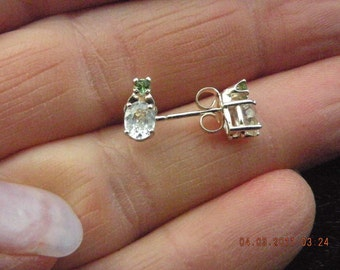 White Sapphire with Accents Earrings