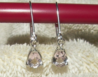 Pink Spinel Pear Dangle Earrings