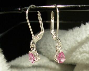 Pink Sapphire Dangle