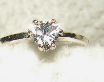 Trillion(.50ct) White Sapphire Solitaire Engagement Ring