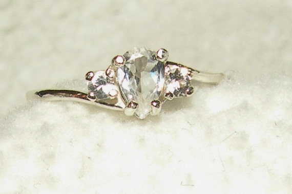 White Sapphire Engagement or Wedding Ring