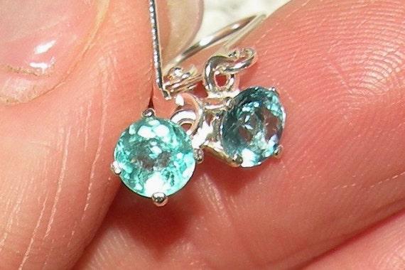 Natural Blue Paraiba Apatite Dangle Earrings