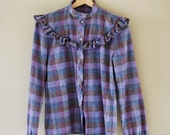 Purple Plaid Pendleton Button-Up Shirt