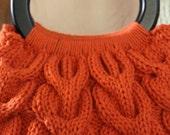PDF Pattern Knit Horseshoe Cable Handbag