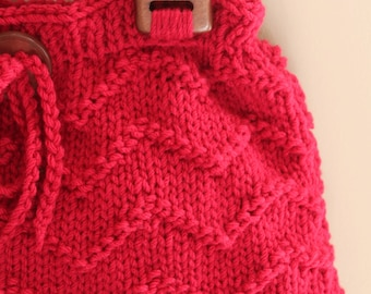 PDF Pattern Knit Chevron Handbag