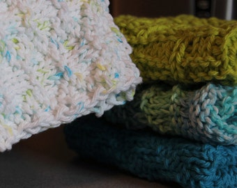 PDF Pattern Knitted Dishcloths or Washrags